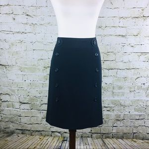 Ann Taylor Navy Stretch Pencil Skirt (Size 10)